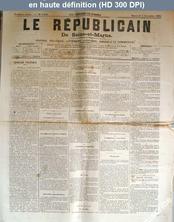 LE REPUBLICAIN DE SEINE ET MARNE  numéro 1192 du 05 décembre 1883
