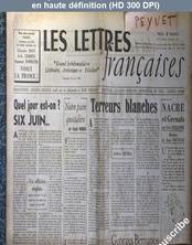 LES LETTRES FRANCAISES  numéro 112 du 14 juin 1946