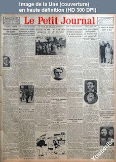 LE PETIT JOURNAL  numéro 23533 du 22 juin 1927