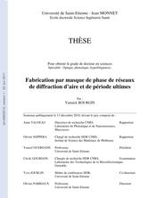 Fabrication par masque de phase de réseaux de diffraction d'aire et de période ultimes