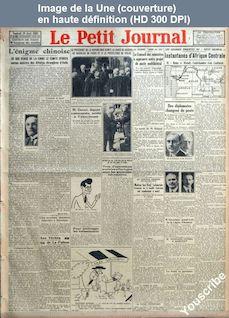 LE PETIT JOURNAL  numéro 23836 du 20 avril 1928