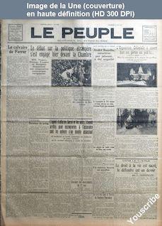 LE PEUPLE  numéro 3766 du 08 mai 1931