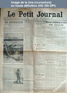 LE PETIT JOURNAL  numéro 159 du 08 juin 1910