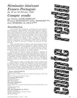 Sén1inaire itinérant Franco-Portugais Con1pte rendu Introduction