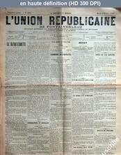 L' UNION REPUBLICAINE DE FONTAINEBLEAU  numéro 1923 du 04 février 1896