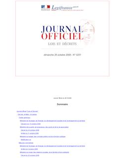 JORF n°0251 du 26 octobre 2008