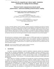 Elaboration de composites par cuisson rapide : simulation numérique du couplage thermo-chimique