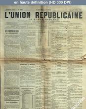 L' UNION REPUBLICAINE DE FONTAINEBLEAU  numéro 1946 du 16 mai 1896
