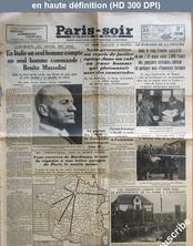 PARIS SOIR numéro 4124 du 22 janvier 1935