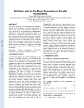 Definition sets for the Direct Kinematics of Parallel Manipulators