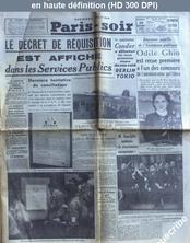 PARIS SOIR du 30 novembre 1938