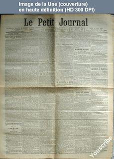 LE PETIT JOURNAL  numéro 13598 du 20 mars 1900
