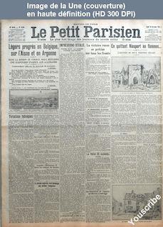 LE PETIT PARISIEN  numéro 13907 du 26 novembre 1914