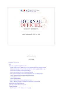 Journal officiel du 24 décembre 2002