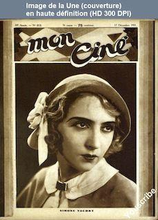 MON CINE numéro 513 du 17 décembre 1931