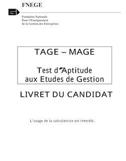 Livret du Candidat TageMage