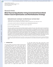Blind Channel Equalization Using Constrained Generalized Pattern Search Optimization and Reinitialization Strategy