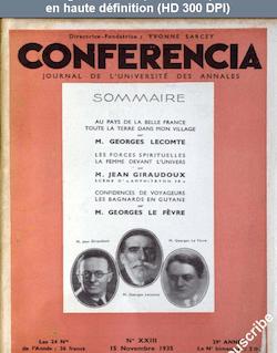 CONFERENCIA numéro 23 du 15 novembre 1935
