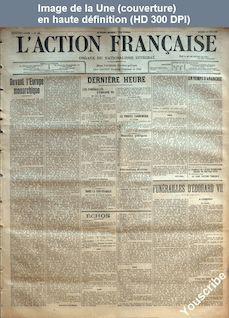 L' ACTION FRANCAISE  numéro 141 du 21 mai 1910