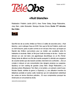 «Nuit blanche»