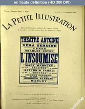 LA PETITE ILLUSTRATION THEATRE  numéro 123 du 25 novembre 1922