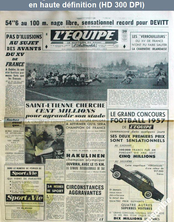 L' EQUIPE  numéro 3364 du 29 janvier 1957