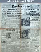 PARIS-SOIR du 27 avril 1940