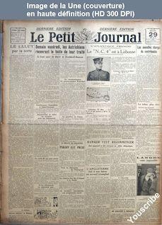 LE PETIT JOURNAL  du 29 mai 1919