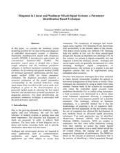 Diagnosis in Linear and Nonlinear Mixed-Signal Systems: a Parameter Identification Based Technique