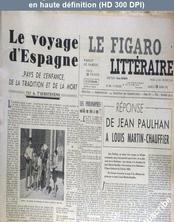 LE FIGARO LITTERAIRE  numéro 308 du 15 mars 1952