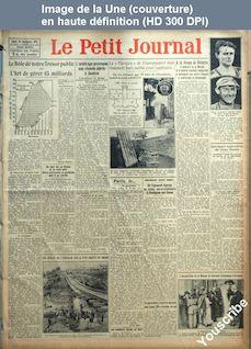 LE PETIT JOURNAL  numéro 22537 du 29 septembre 1924