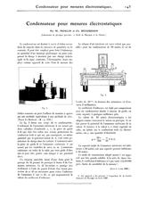 Condensateur pour mesures électrostatiques