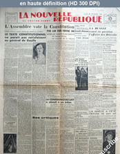 LA NOUVELLE REPUBLIQUE  du 30 septembre 1947