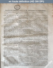 GAZETTE NATIONALE numéro 193 du 03 avril 1804
