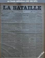 LA BATAILLE  numéro 804 du 28 mars 1891
