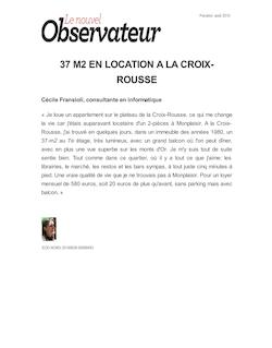 37 M2 EN LOCATION A LA CROIX-ROUSSE