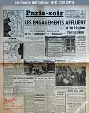 PARIS SOIR numéro 372 du 09 juillet 1941