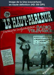 LE HAUT PARLEUR  numéro 1024 du 15 février 1960