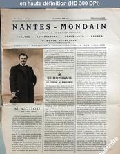 NANTES MONDAIN numéro 11 du 08 décembre 1900