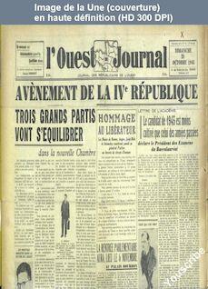 L' OUEST JOURNAL  numéro 45 du 28 octobre 1945