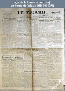 LE FIGARO  numéro 425 du 23 décembre 1945