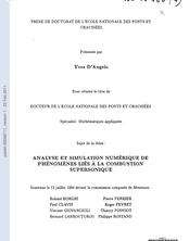 Analyse et simulation numérique de phénomènes liés à la combustion supersonique