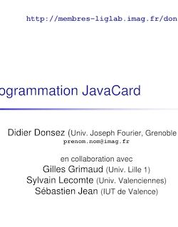 Programmation JavaCard