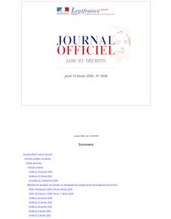 Journal officiel n°0036 du 12 février 2009