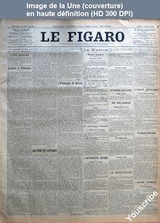 LE FIGARO  numéro 274 du 01 octobre 1914