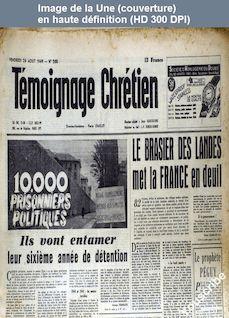 TEMOIGNAGE CHRETIEN numéro 268 du 26 août 1949