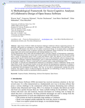 A Methodological Framework for Socio-Cognitive Analyses of Collaborative Design of Open Source Software