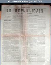LE REPUBLICAIN DE SEINE ET MARNE  numéro 923 du 22 février 1882