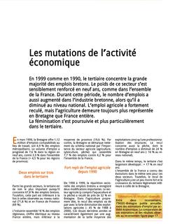 Les mutations de l'activité économique (Octant n° 88)