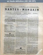 NANTES MONDAIN numéro 36 du 01 septembre 1901